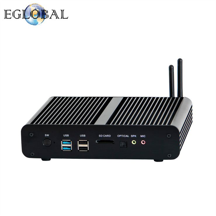 EGLOBAL New Arrival Dual Ethernet NIC Mini gaming computer intel core i7 7560U cheap mini pc