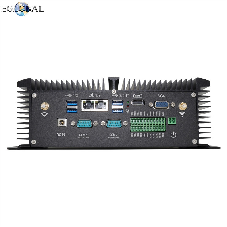 Eglobal DDR4 industrial mini computer intel core i5 8250U Quad Core industrial pc with SIM card slot