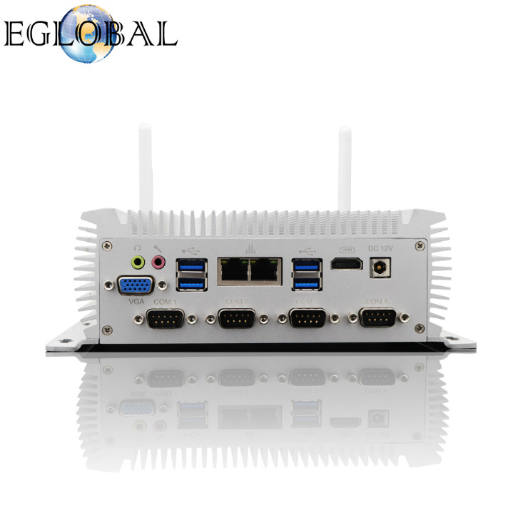 Eglobal Cheap price Industrial Mini computer intel core i5 4200U dual lan 6COM ports gaming computer
