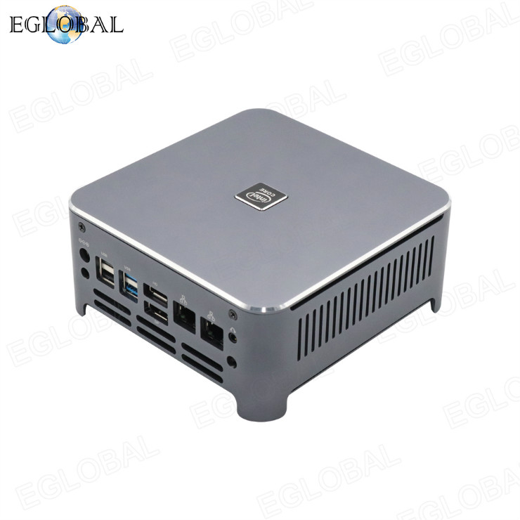 Eglobal 8 cores 12 threads mini pc 10750H dual lan 4K Dual display i7 gaming computer pc