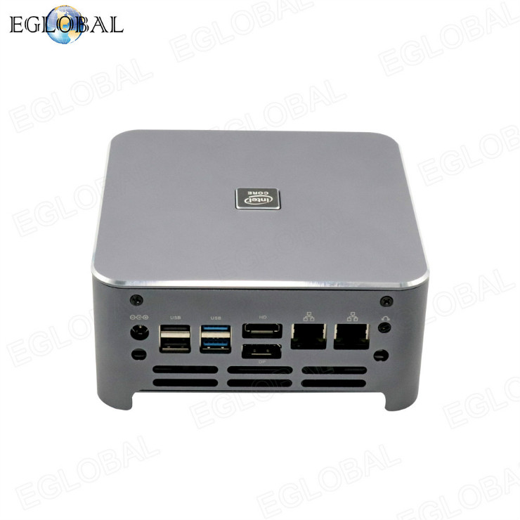 Eglobal S500 series Mini Gaming PC dual 4K DP HDMI display powerful mini computer with FAN