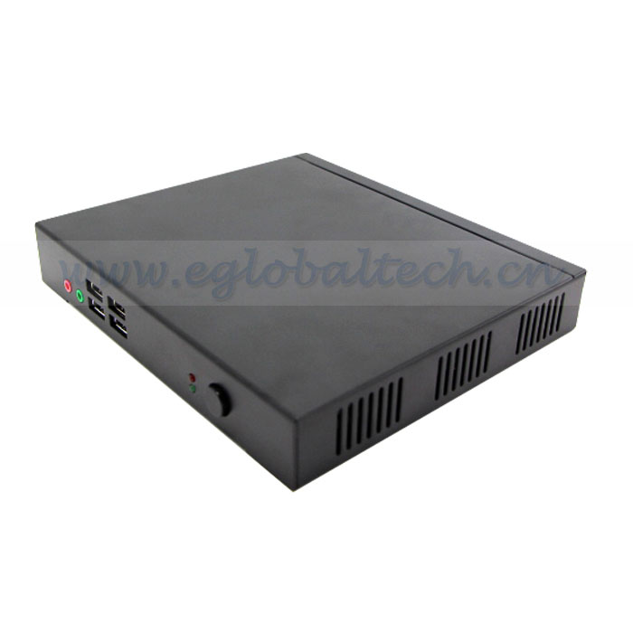 Eglobal cost-effective core i3 fanless pc with 3G SIM Slot Dual RJ45 powerful mini desktop pc