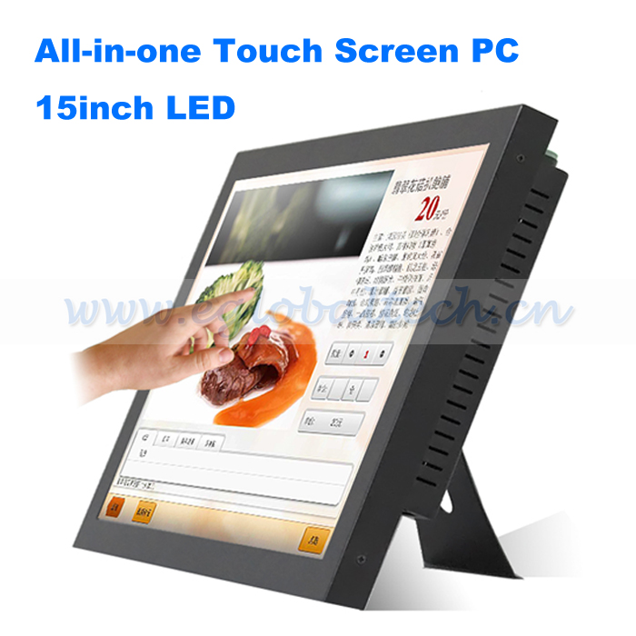 Eglobal 15inch LED Touch Screen Industrial All in one PC Celeron 1037U Motherboard POS Computer