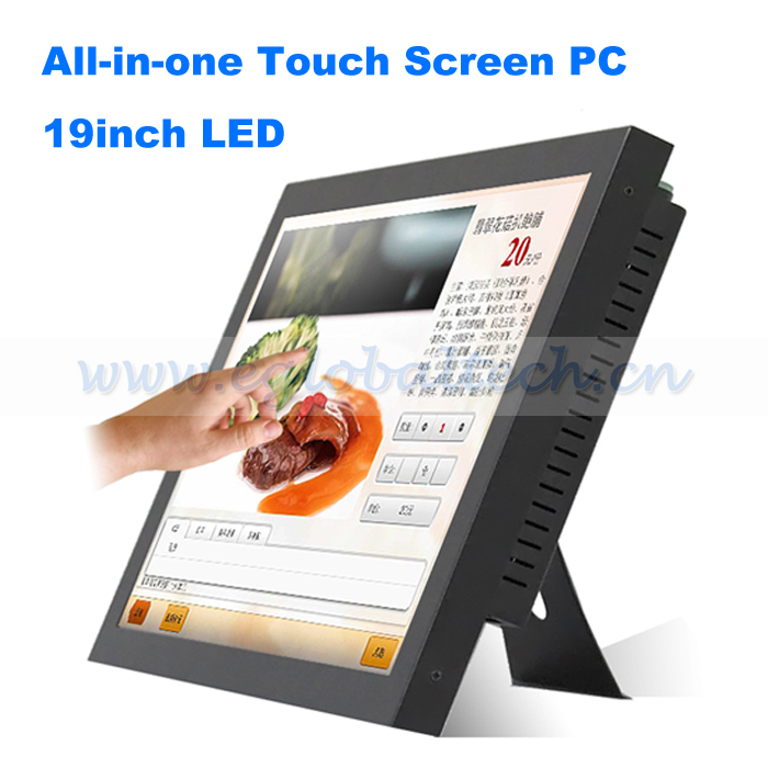 Eglobal hot selling all in one PC computer 19inch touch screen Monitor
