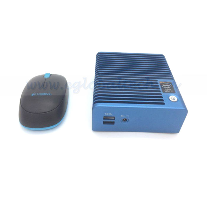 Eglobal Ultra thin mini pc fanless core i7 5500U mini desktop pc HOT selling