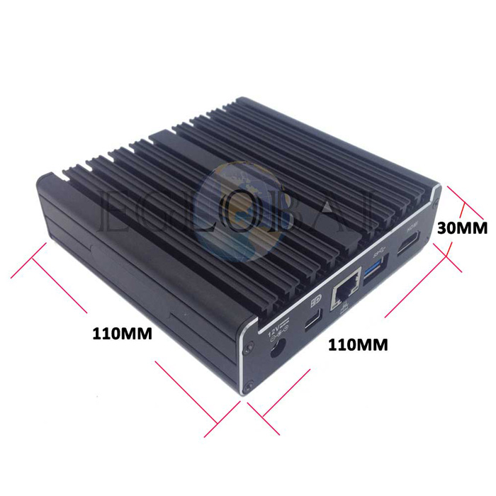 Eglobal high quality fanless best tiny desktop intel core i7 5500U nettop pc HD 5500