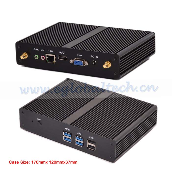 Upgrade Intel Pentium Quad Core HDMI VGA Fanless Barebone Mini HTPC Intel NUC Small Computer