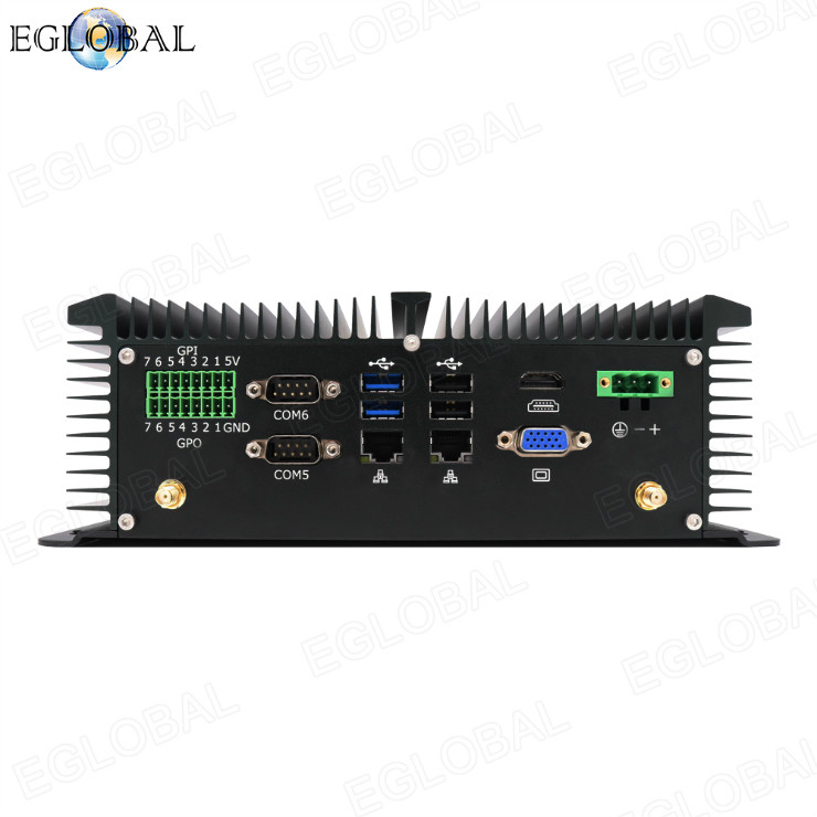 Eglobal New industrial mini pc Onboard Intel J1900 2.0GHz   dual lan 6com ports cheap micro computer